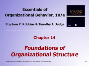Copyright © 2010 Pearson Education, Inc Publishing as Prentice Hall 3-1 Essentials of Organizational Behavior, 10/e Stephen P Robbins & Timothy A Judge
