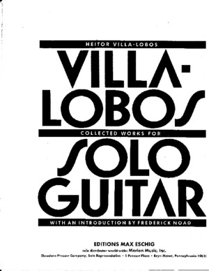 109120828 Complete Works for Solo Guitar Heitor Villa Lobos