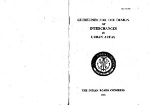 109321783 IRC 92 1985 Guidelines for the Design of Interchanges in Urb