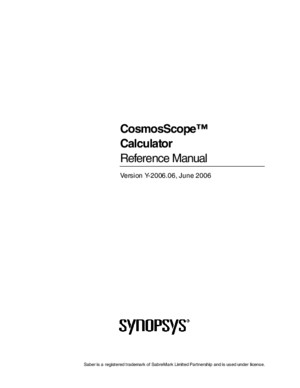 CosmosScope Calculator Reference Manual