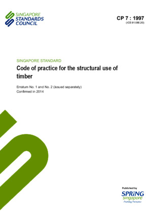 CP 7 1997(2014) Code of practice for the structural use of timber