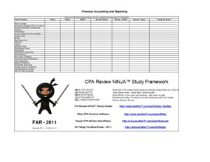 CPA Review NINJA Study Planner
