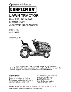 craftsman tractor manual
