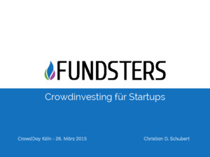 CrowdDay 2015 - Fundsters - Christian Schubert