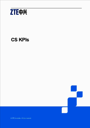 CS KPI Optimization ZTE