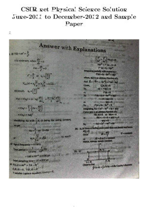 CSIR Physical Science Solution Paper
