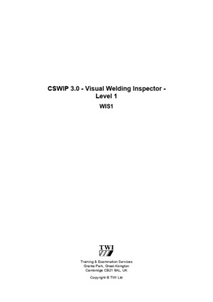 Cswip 30 Course Notes