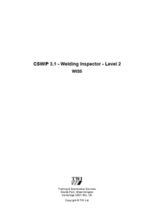 Cswip 31 Course Notes