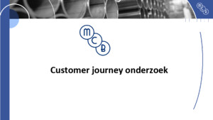 Customer journey mcb 2015