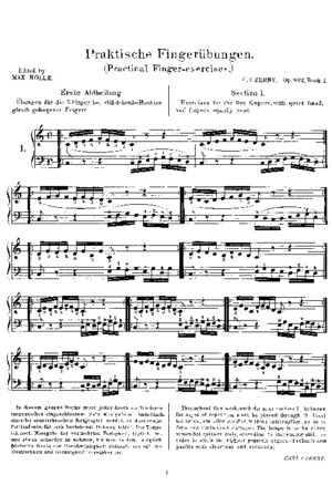 Czerny - Practical Finger Exercises