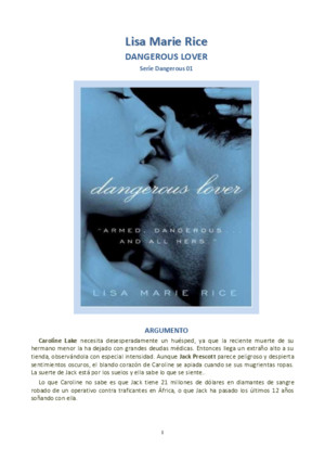 (Dangerous #1) dangerous lover by lisa marie rice