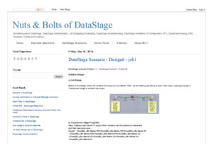 Data stage scenario design7- job1