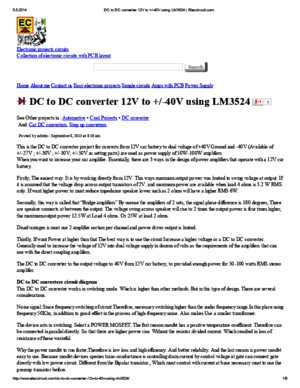 DC to DC converter 12V to +_-40V using LM3524 _ Eleccircuit