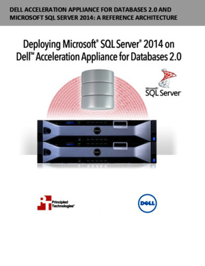 Dell Acceleration Appliance for Databases 20 and Microsoft SQL Server 2014: A reference architecture