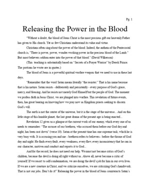 Derek Prince Releasing the Power in the Blood (1)doc