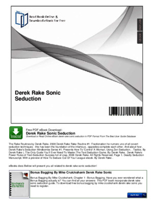 Derek Rake Sonic Seduction