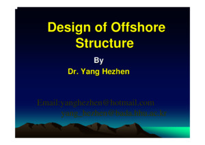 design of offshore structure