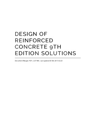 Design of Reinforced Concrete 7th Edition