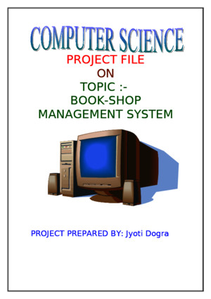 122821934 Computer Science Project File for Class XII CBSE