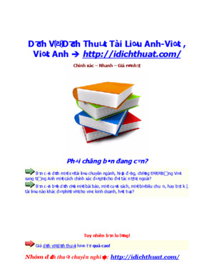 Dịch thuật việt anh hay 2013