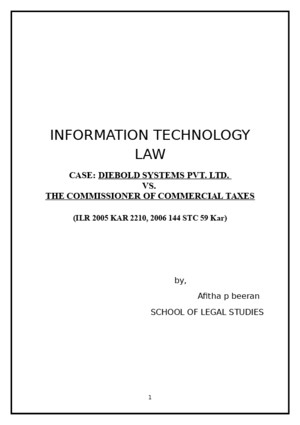 DIEBOLD SYSTEMS PVT LTD V COMMISSIONER OF COMMERCIAL TAXES
