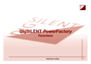 DIgSILENT PowerFactory Function