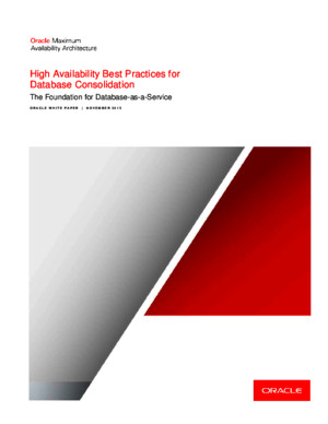 12c - High Availability Best Practices for Database Consolidation