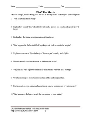 Dirt Movie Worksheet (1)