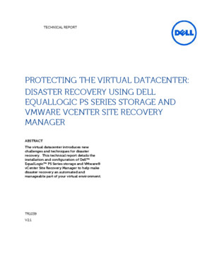 Disaster Recovery Using Dell EqualLogic PS Series Storage and VMware Site Recovery Manager