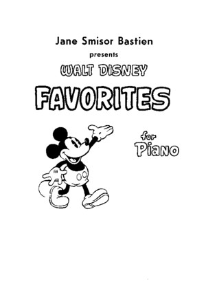 Disney Favorites for piano