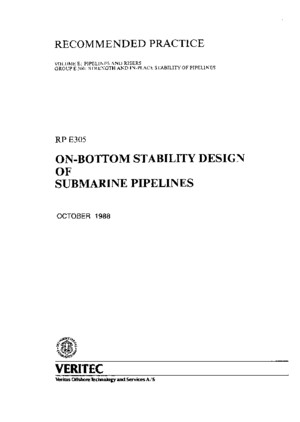 DNV-RP-E305_1988 - On-Bottom Stability of Submarine Pipelines