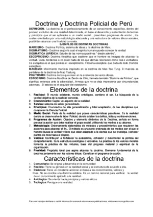 Doctrina y Doctrina Policial de Perú