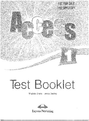 131822479 Access 1 Test Booklet