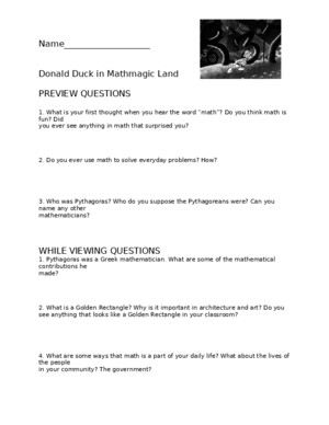 Donald Duck Worksheet