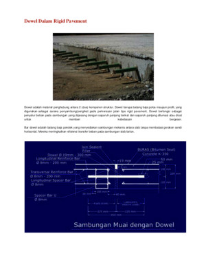 Dowel Dalam Rigid Pavement