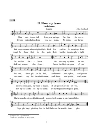 Dowland, J - Flow My Tears