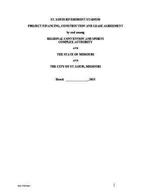 DRAFT Board Bill: St Louis Riverfront Stadium Project Financing, Construction and Lease Agreement