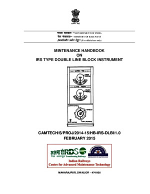 Draft Maintenance Handbook on IRS Type DLBI