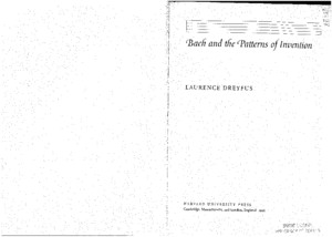 Dreyfus 1996 Bach and the Patterns of Invention Ch 3pdf