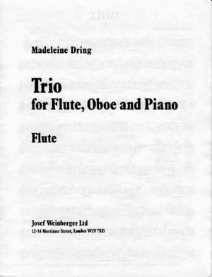 Dring Trio for Flute Oboe and Piano Score