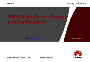 151007177 UMTS Multi Carrier Strategy and Configuration 20100622[1]
