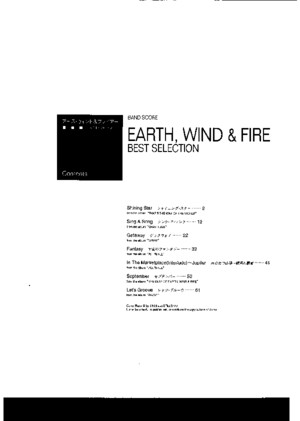 Earth Wind and Fire Full Band PDF