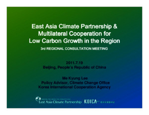 East Asia Climate Partnerships