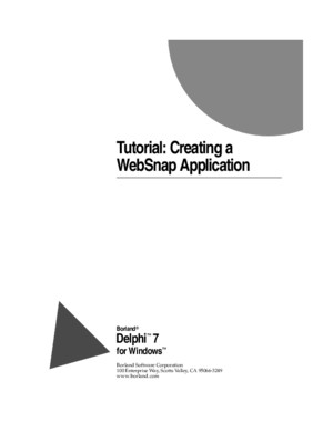 [eBook][Delphi] - Borland Delphi 7 - Tutorial - Creating a Websnap Application