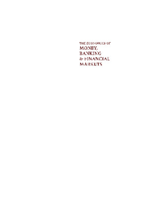 economics of money, banking, and financial markets 9th editionpdf
