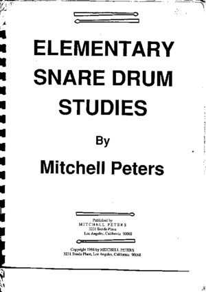 Elementary Snare Drum Studies (Mitchell-Peters)pdf