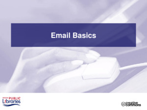 Email Basics 2 Class Outline Part 1 - Introduction –Explaining email –Parts of an email address –Types of email services –Acquiring an email account