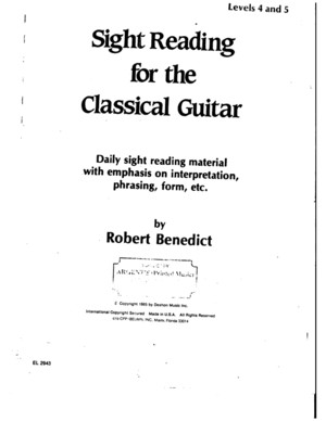 178732809 Benedict Robert Sight Reading for the Classical Guitar Level IV v PDF