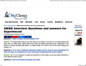 19 OBIEE Interview Questions and answers for Experiencedpdf