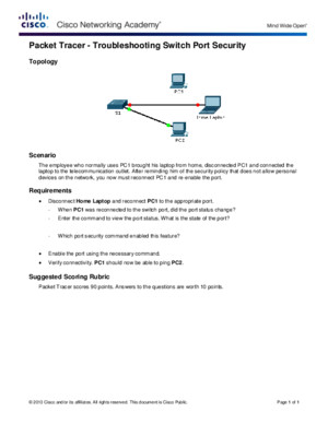 22410 Packet Tracer - Troubleshooting Switch Port Security Instructionspdf